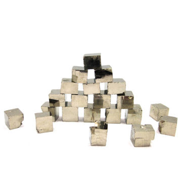 Pyrite Cubes 3 Crystals 8mm  14mm Raw Rough by instantkarmashop