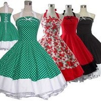 Womens 50s 60s Swing Vintage Dress Pinup Retro Rockabilly Evening Party Dress