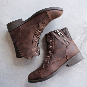 Brielle ankle sweater bootie with side zipper