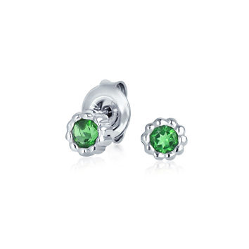 Bling Jewelry Green Glam Studs