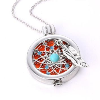 Dream Catcher Diffuser Necklace with Pads