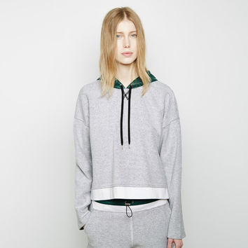 Nylon Hooded French Terry Sweatshirt by T by Alexander Wang