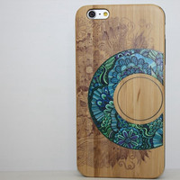 Wood Floral Iphone 6 6s plus Cases