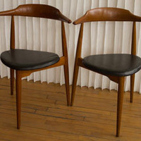 Hans Wegner Heart Chairs
