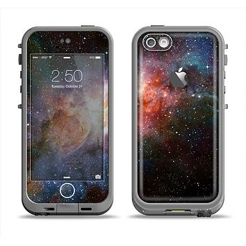 The Mulitcolored Space Explosion Apple iPhone 5c LifeProof Fre Case Skin Set