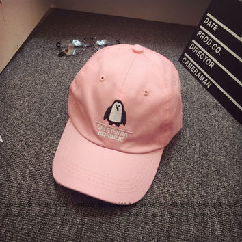 Penguin Embroidered Baseball Hat