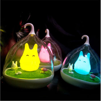 Newest Design Night Lamp Totoro Cute Portable Touch Sensor USB LED Lights For Baby Bedroom Sleep Lighting Art Decor
