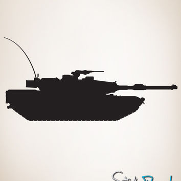 Vinyl Wall Decal Sticker Military Tank #211