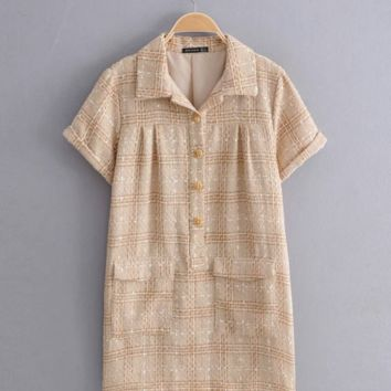 Autumn small scented tweed dress
