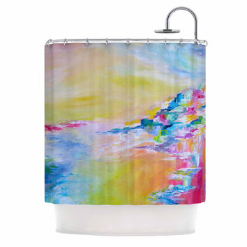 "Ebi Emporium ""Something About the Sea"" Yellow Multicolor Shower Curtain"