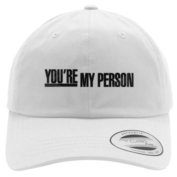Grey's Anatomy - You're My Person Embroidered Cotton Twill Hat