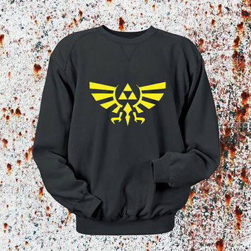 Legend of Zelda Sweater Black, Blue, Gray, Orange, Red, and Yellow Sweatshirt Crewneck Men or Women Unisex Size