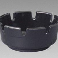 "Gessner 263BK12 4"" Round Black Ashtrays"