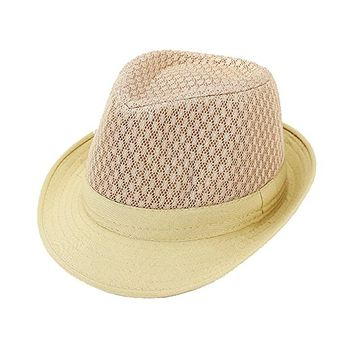 Beatnix Fashions Neutral Lace Fedora Hat