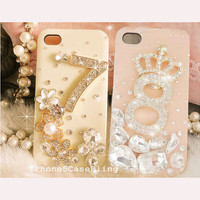 iPhone 4 Case, iPhone 4s Case,iPhone 5 Case, Bling iPhone 5 Case, iPhone 4 bling case, Unique iPhone 4 case, Cute iPhone case lucky numbers