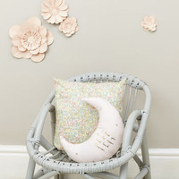 Personalised Moon Cushion Pale Pink