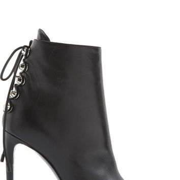 Balenciaga Lace-Up Back Pointy Toe Bootie (Women) | Nordstrom
