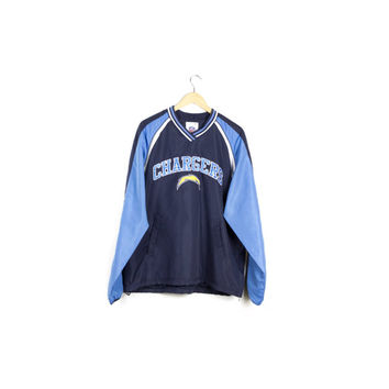 CHARGERS NFL windbreaker / pullover jacket / san diego / football gear / basic / large