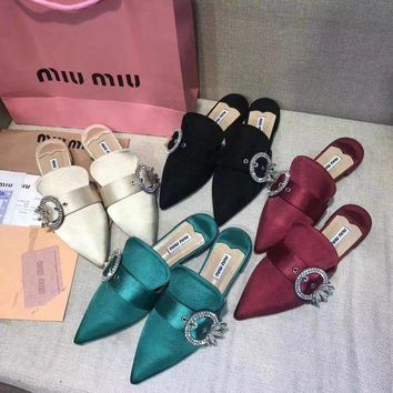 Miumiu 2018 New Slippers