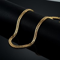 Vintage Long Gold Chain For Men Chain Necklace New Trendy Gold Color Stainless Steel Thick Bohemian
