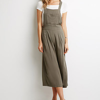 Pleated Wide-Leg Overalls