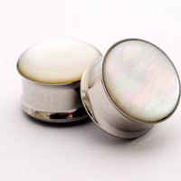 Embedded Mother of Pearl Plugs gauges - 5/8 only