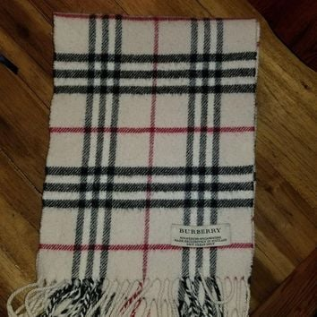 One-nice™ Burberry Scarf Merino and Cashmere Women's Or Girls 46