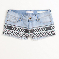Bullhead Denim Co Print Blocked Denim Shorts at PacSun.com