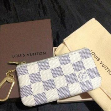 Hot Sale Louis Vuitton LV Trending Women Men Zipper Key Pouch Clutch Bag Coin Purse Wristlet I