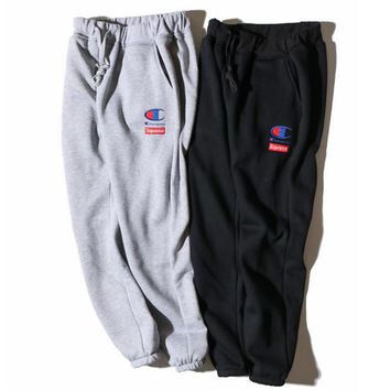 Champion Men Fashion Casual Print Sport Stretch Pants Trousers Sweatpants-1