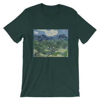 Van Gogh Art Olive Trees Short-Sleeve Unisex T-Shirt