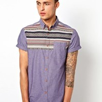 River Island Chambray Shirt With Placement