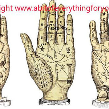 palm reading hands printable fortune teller art clipart png download digital vintage image graphics celestial artwork