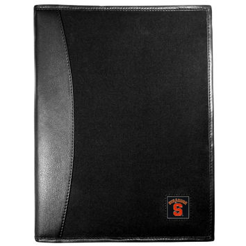 Syracuse Orange Leather and Canvas Padfolio CPAD62