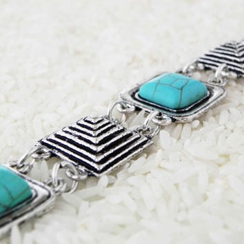 GIZA DAYDREAM BRACELET egyptian Style Turquoise Bracelet bohemian gypsy hippie collection