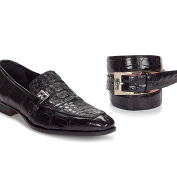 "Mauri - 4763 ""Broletto"" Baby Croc/Hornback Crown Loafer"