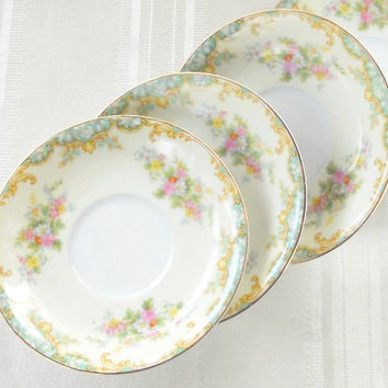 Vintage Noritake Jasmine Saucers, Tea Party, Cottage Chic, Wedding, Small Plates, Tea Party Set, Tea Cups, Japan, Replacement China