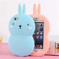 Topit iphone 6 Plus 5 5 Lovely Cartoon Bunny Fat Rabbit Soft Silicone Protective...
