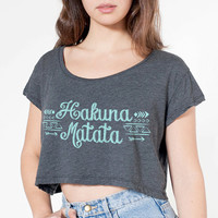 Hakuna Matata Tribal Design Crop Top