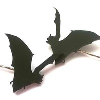 Goth Witchy Bat Hair Clips