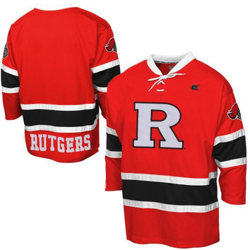 Rutgers Scarlet Knights Face Off Hockey Jersey - Scarlet