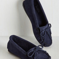 Fundamental Footwork Suede Flat in Navy | Mod Retro Vintage Flats | ModCloth.com