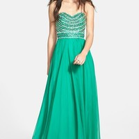 Sherri Hill Embellished Strapless