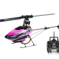WLtoys V944 2.4GHz Remote Control 4-Channel RC Flybarless Helicopter with Right/Left Hand Switch Remote Control (Purple)