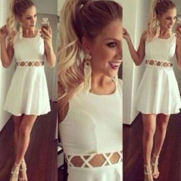 HOT WAIST HOLLOW OUT DRESS
