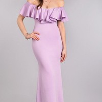 Glitz & Glamour Mermaid Maxi Dress - Lilac
