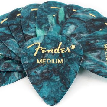 Fender 351 Premium Guitar Picks - Med Ocean Turquoise - 12-Pack