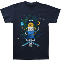 Adventure Time Men's  Pyramid T-shirt Black Rockabilia