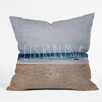 Leah Flores Lets Run Away III Outdoor Throw Pillow