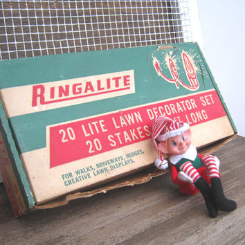 Ringalite Vintage 1950s Outdoor Lights; Original Box - 38 Large Christmas Bulbs - Multicolored C9 1/4 Large Retro Christmas Lights